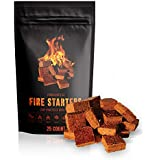 Fire Starter Squares, Natural & Eco Friendly, Water Proof, Perfect for: BBQ Grill, Gas Grill, Campfire Grill, Camping Gear, Camp Fire Cooking, Emergency Survival Kit, Fireplace & BBQ Accessories Kits!