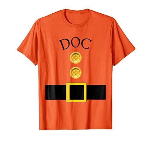 Mens Cute Doc Halloween Group Costume T Shirt | Team Tees Medium Orange