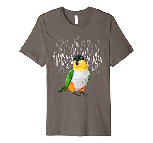 Black Headed Caique Parrot T-shirt - Screaming Black-Headed Caique T-Shirt