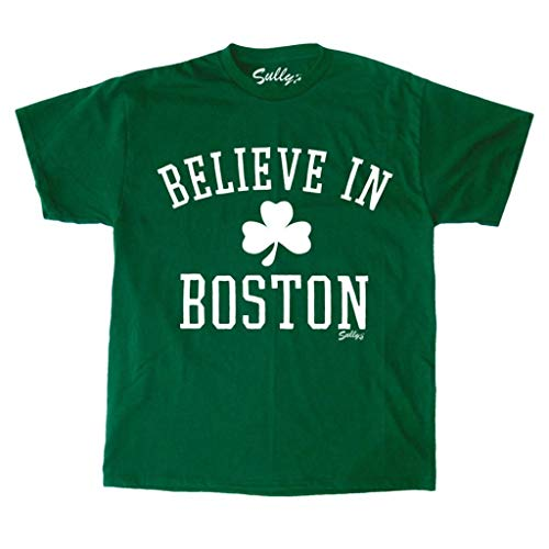 Sully's Brand. Mens Believe In Boston - Classic Clover - Kelly Green (XXL)