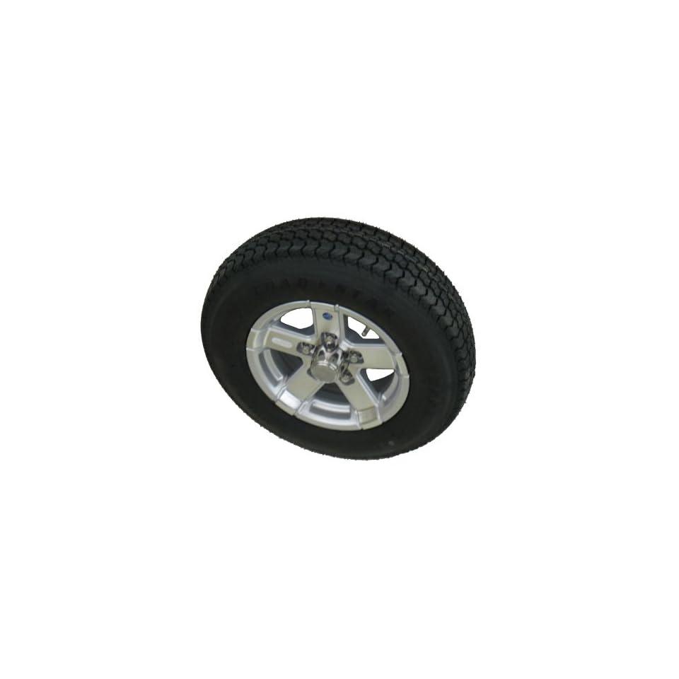 205/75D15 LRC 6 PR Kenda Loadstar Bias Trailer Tire on 15 5 Lug Series 07 Silver Hispec Aluminum Trailer Wheel