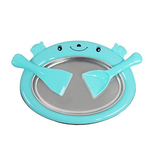 Ktyssp Mini Ice Cream Maker Fried Ice Machine Tray Home Yogurt Maker Machine (Blue) ()