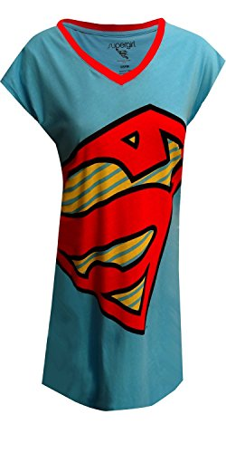 DC Comics SuperGirl Logo Nightshirt for women (One Size) by WebUndies.com