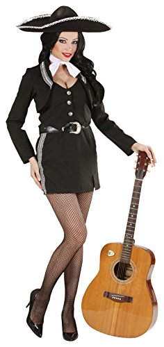 Ladies Mariachi Woman Costume Small Uk 8-10 For Mexican Mexico Fancy Dress]()