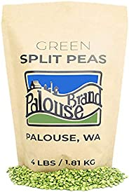 Non-GMO Project Verified Green Split Peas | 4 LBS | 100% Non-Irradiated | Certified Kosher Parve | USA Grown |Identity Prese