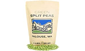 Non-GMO Project Verified Green Split Peas | 4 LBS | 100% Non-Irradiated | Certified Kosher Parve | USA Grown |Identity Preserved (We tell you which field we grew it in) (4 lb Kraft Bag)