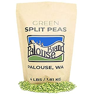 Green Split Peas • 100% Desiccant Free • 4 lbs • Non-GMO Project Verified • 100% Non-Irradiated • Certified Kosher Parve • USA Grown • Field Traced • Resealable Kraft Bag