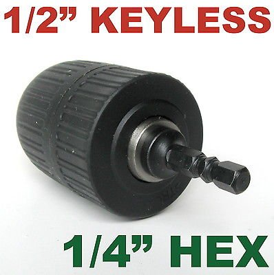 """1 pc keyless 1/16""""-1/2"""" Cap with 1/4"""" Hex adapter Drill Chuc"""