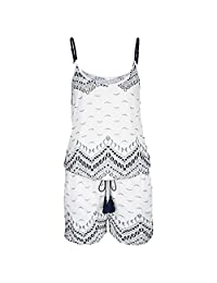 Hot Sale! Cuekondy Women Summer Casual Strap Short Mini Romper Jumpsuit Ladies Boho Printed Playsuit Beach Dress