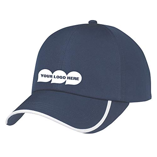 (Hit-Dry Curve Ball Cap - 48 Quantity - $6.00 Each - PROMOTIONAL PRODUCT/BULK/BRANDED with YOUR)