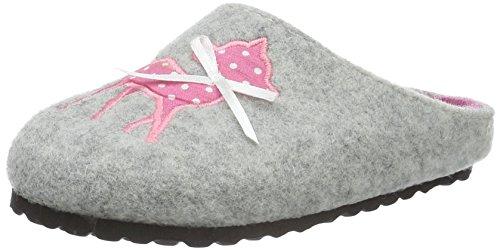 softwaves Mädchen Hausschuh Pantoffeln, Grau (200 Grey), 35 EU