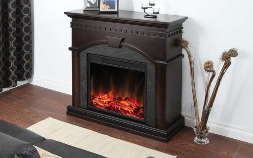 Cheap Muskoka Cavan Electric Fireplace 40-Inch Burnished Walnut Black Friday & Cyber Monday 2019