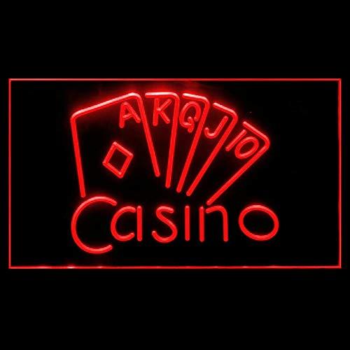 (220092 Casino Poker Game Room Card Game Vegas Display LED Light Sign )