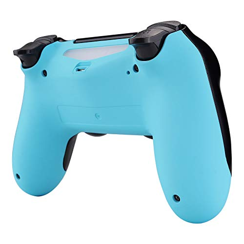 eXtremeRate Soft Touch Heaven Blue Back Housing Case Cover Bottom Shell, Game Improvement Replacement Parts for Playstation 4 PS4 Slim Pro Controller JDM-040, JDM-050 and JDM-055 (Color: Heaven Blue)