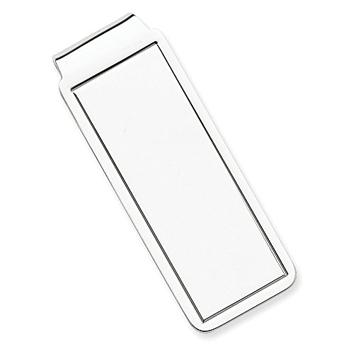 Sterling plated Sterling Silver Rhodium Silver plated Clip Money Sterling Clip Money Rhodium qAT41FA