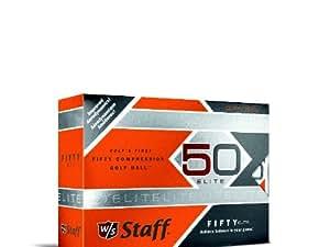 Wilson Staff Fifty Elite Golf Balls, Orange, Pack of 12