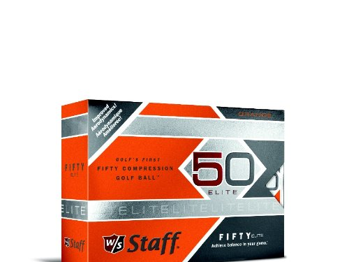 Wilson Staff Fifty Elite Golf Balls, Orange, Pack of ()
