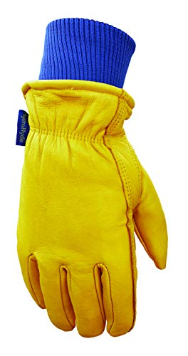 Wells Lamont Water Resistant Very Warm Leather Work Gloves, Thinsulate Insulated Grain Cowhide, Extra-Large ()