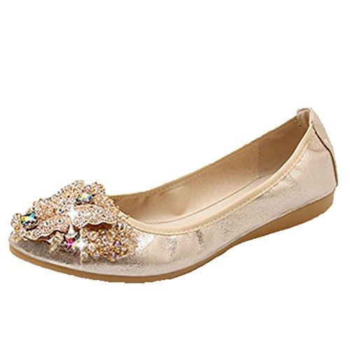 Women's Gold Ballet Opsun 2 Size Flats zwHAqdv