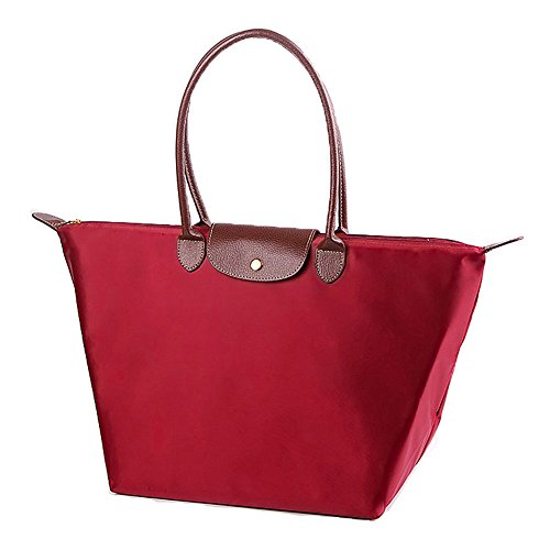 Women's Retro Hobo Messenger PU Leather Shoulder Handbag(Wine red) - 2