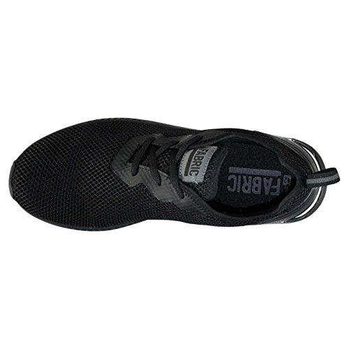 Fabric Hommes Dallim Run Chaussures Baskets À Lacets Casual Léger Mesh Pattern Noir/Noir MsAHS