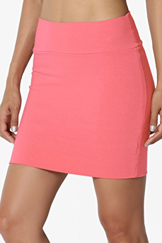 a2c08ccb59 TheMogan S~XL Basic Stretch Thick Cotton Jersey Double Layered Tube Mini  Skirt