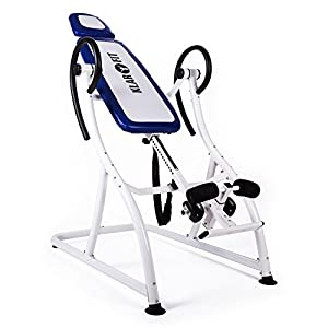 "Klarfit ""Relax Zone"" Pro Inversion Table - Max Load 150kg - Blue and White"