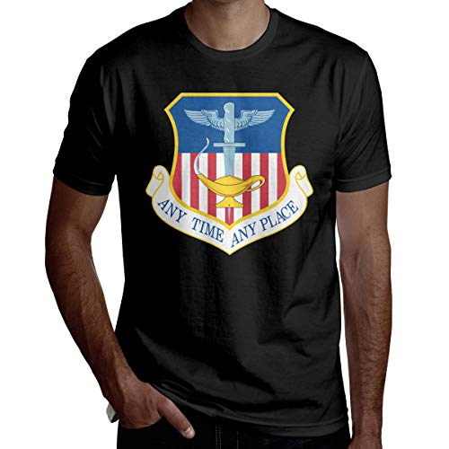 Hhujeat 1st Special Operations Wing Men's Casual Short Sleeve T-Shirt Black