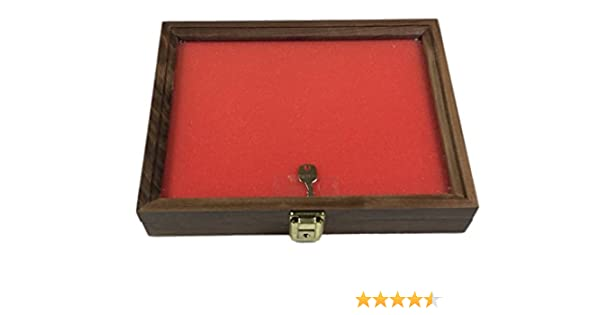Cherry Wood Display Case  18 x 24 x 3 for Arrowheads Knifes Collectibles /& More