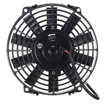 Radiator Cooling Fan - 12V Radiator Cooling Fan - Universal 12V 80W Pull/Push Straight Black Blade Electric Cooling Radiator Fan - 14 (Electric Radiator Cooling Fan)
