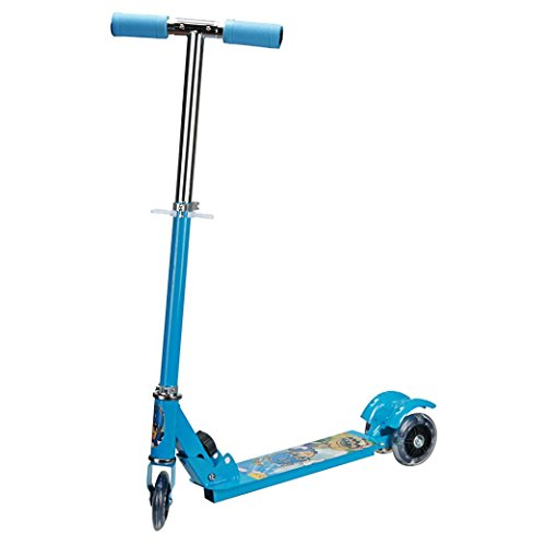 Kids Scooter,Elevin(TM)Christmas Birthday Gifts Kids Children New Mini Folding Kick Scooter 3 Wheels Outdoor Ride Stainless Steel Push Exercise Scooter (Blue)