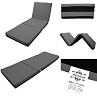 Magshion 4 Inch Memory Foam Tri-fold Mattresses Floor Bed - Twin Size (Dark Grey)