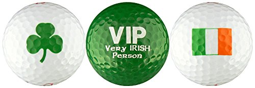 - Very Irish Person VIP Shamrock Irish Flag Golf Ball Gift Set