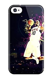 Fashion Tpu Case For Iphone 4/4s- Kobe Bryant Defender Case Cover