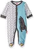 Fisher-Price Embroidered One-Piece Coverall, Light Blue/Gray, 9 Months