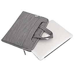 Mosiso Denim Fabric Laptop Sleeve Case Cover Bag with Shoulder Strap for 13-13.3 Inch MacBook Pro, MacBook Air, Notebook Computer, Gray