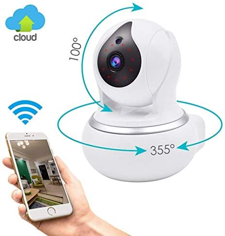 HD IP Security Camera with Night Vision, 720P Wireless Home Surveillance Camera Systems with Motion Detection, Pan Tilt Zoom 2 Way Audio for Pet, Nanny Cam, Baby WiFi Monitor