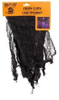 Scary & Non Scary Halloween Decorations (Black Creepy Cloth 30 X 72) by GII ()
