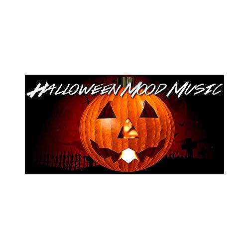 HuiDan Liao Halloween Pumpkin Mood Music Trick or Treat Door Music-Little Spooky Halloween Mix Metal License Plates for Front of Car 12