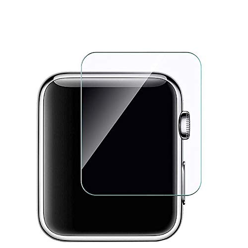 Hanku3-Pack Tempered Glass Screen Protector for Apple Watch Series 1/2/3 (42mm)