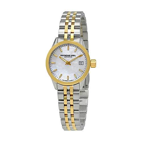 Raymond Weil Women's Freelancer Quartz Watch with Stainless-Steel Strap, Two Tone, 18 (Model: 5626-STP-97021