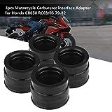 KIMISS 4pcs Motorcycle Carburetor Interface Adapter Intake Manifold Boot Joint for Honda CB650 RC03/05 79-82