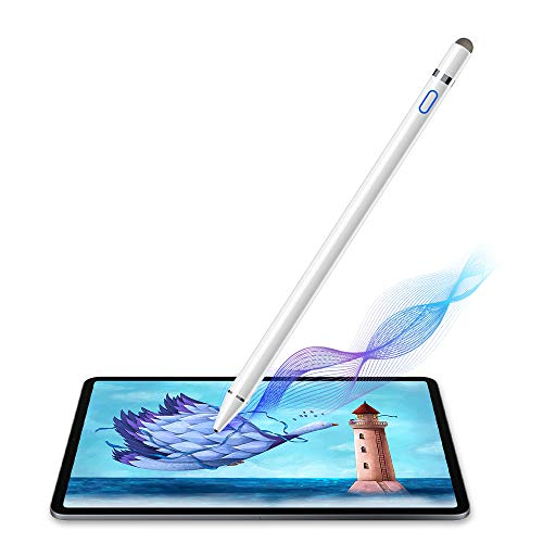 Chilison Active Stylus Digital Pen for Touch Screens,Compatible for iPhone 6/7/8/X/Xr iPad Samsung Phone &Tablets, for Drawing and Handwriting on Touch Screen Smartphones & Tablets (iOS/Android) (Best Stylus For Writing On Ipad Mini)