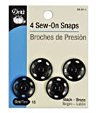 extra large snaps - Dritz(R) Sew-On Snaps - Black