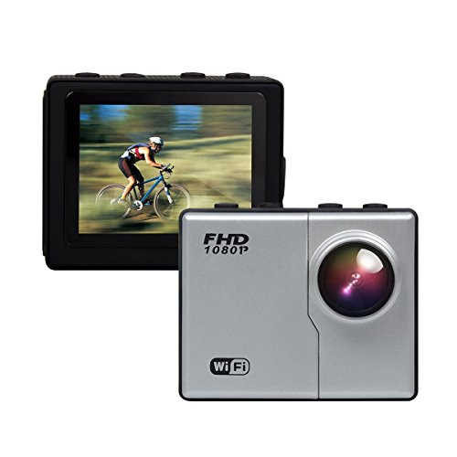 FHD 1080P 16MP Sport Action Camera Helmet Camera with Ambarella A7LS75 Chipset 2.0 Inch LCD Display 170° Wide Angle Lens Time Lapse Self Timer 164 Feet (50m) Underwater Photography