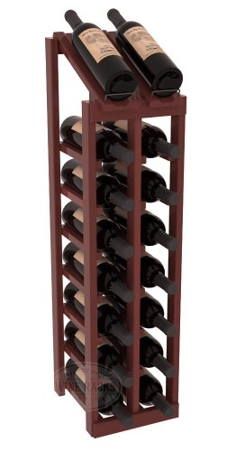 (Wine Racks America Redwood 2 Column 8 Row Display Top Kit. Cherry Stain + Satin Finish)