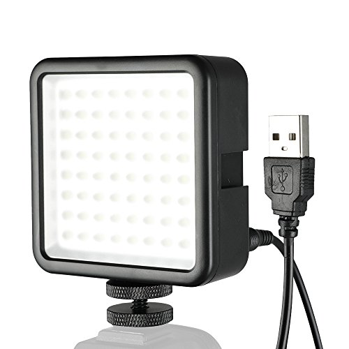 SUPON 64 LED Light Panel,Ultra-Bright Portable Dimmable Continuous Video Lighting Compatible All DSLR Cameras,Camcorder,Studio,Outdoors,Photography (USB to DC Cable) by SUPON