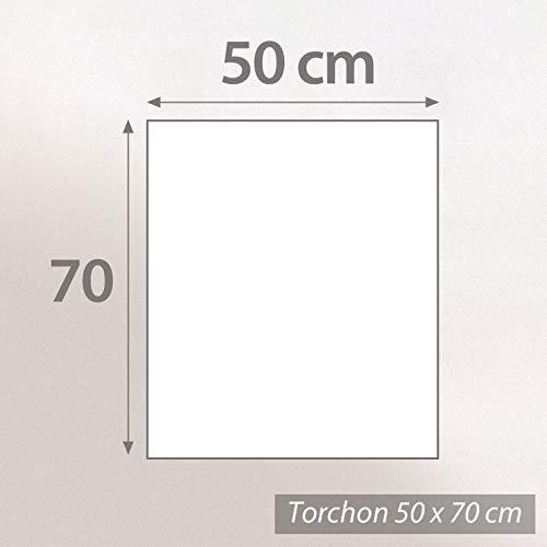 Lot de 2 torchons de cuisine 50x70 cm toile PURE KITCHEN TEA TOWEL Gris