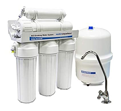 c4f8240d2 50 Gallon Per Day 5-Stage Reverse Osmosis RO Under the Counter (Under Sink)  Drinking Water Filter System