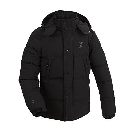 Swiss Ski Wear Black Jacket Snow Sport Styled and Puffer Coat Mens Goose Padded Snowboard Down Jacket Down Tefaneso Winter Designed Warm Windproof Mens Waterproof Winter vSFTxFt